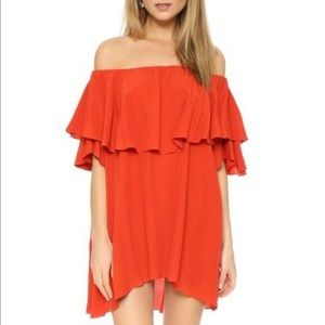 MLM orange off the shoulder dress
